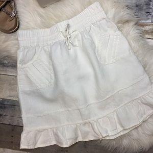 Athleta White Poolside Linen Skirt
